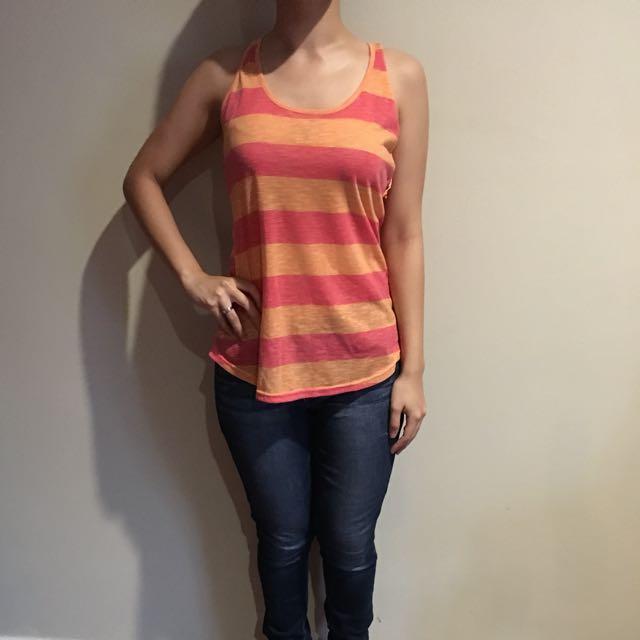 Tanktop Wanita Pink-Orange