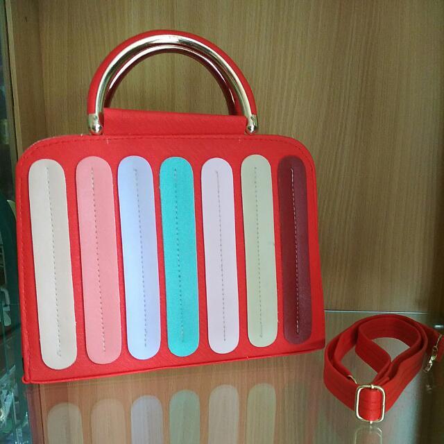 Tas Hand Bag Thalia CR (Merah)