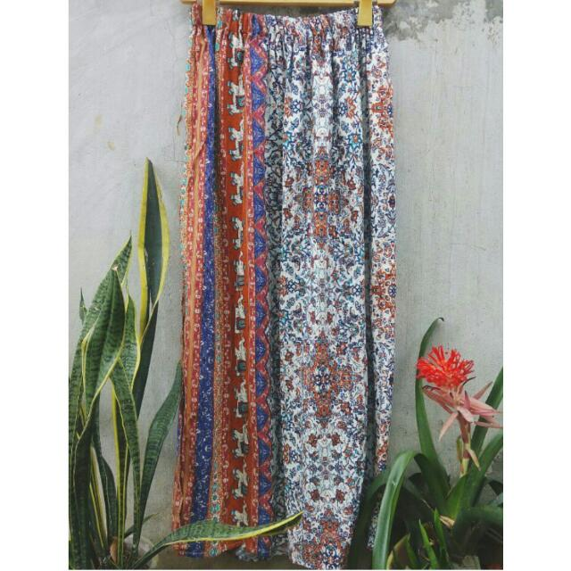 Thai Maxi Skirt with Slit