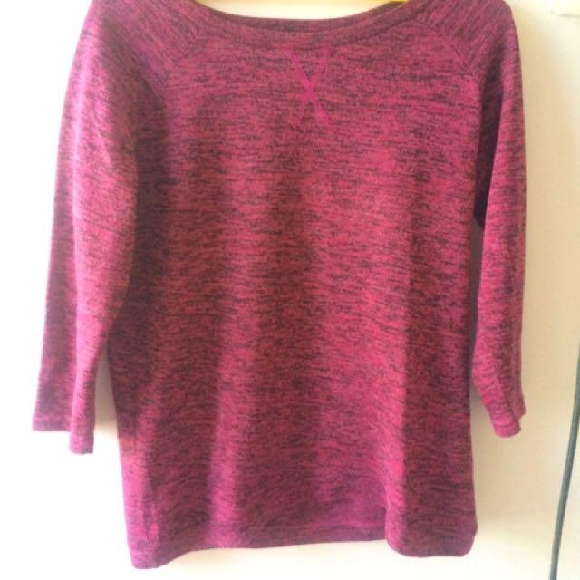 tshirt pink rajut
