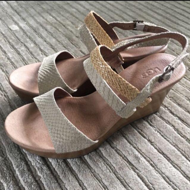 Ugg Platform Suede Sandals Size 5