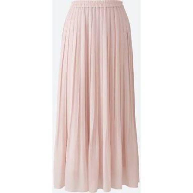 UNIQLO Pleated High Waist Chiffon Skirt S