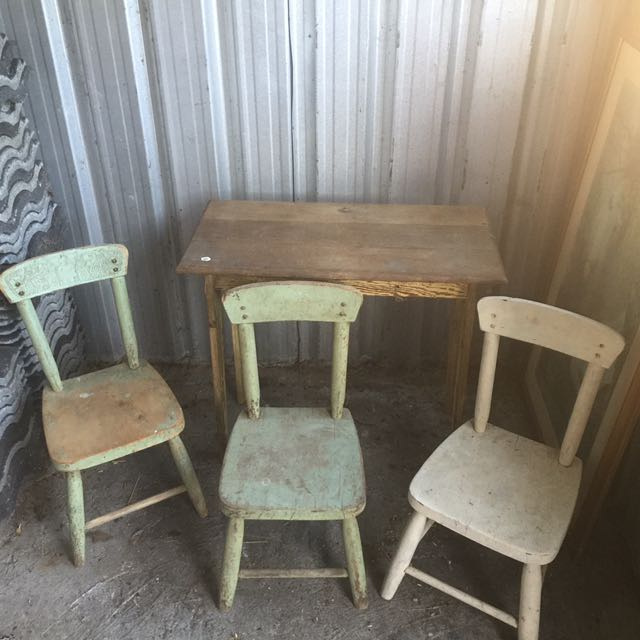 Vintage Kids Table And Chairs Set