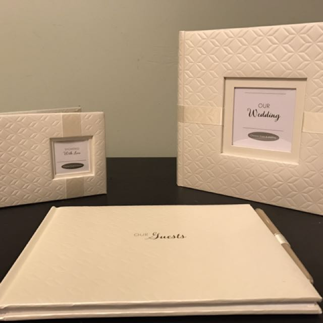 Wedding Album, Shower Album And Guest Book Set