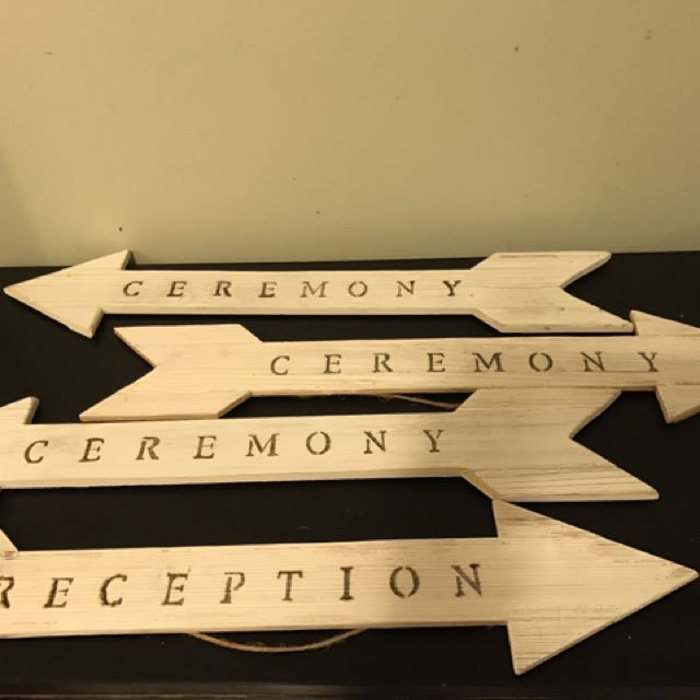 Wedding Decor Arrows