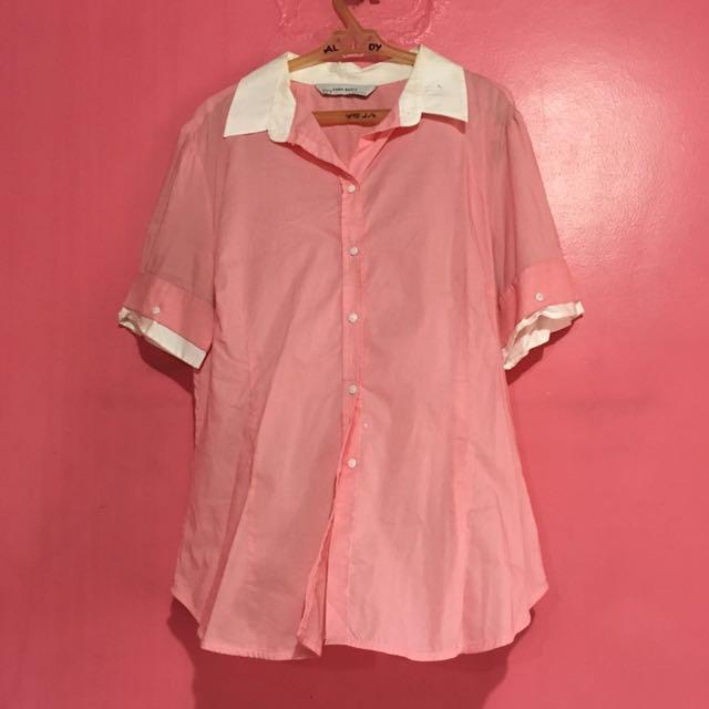 Zara Basic Pink Blouse