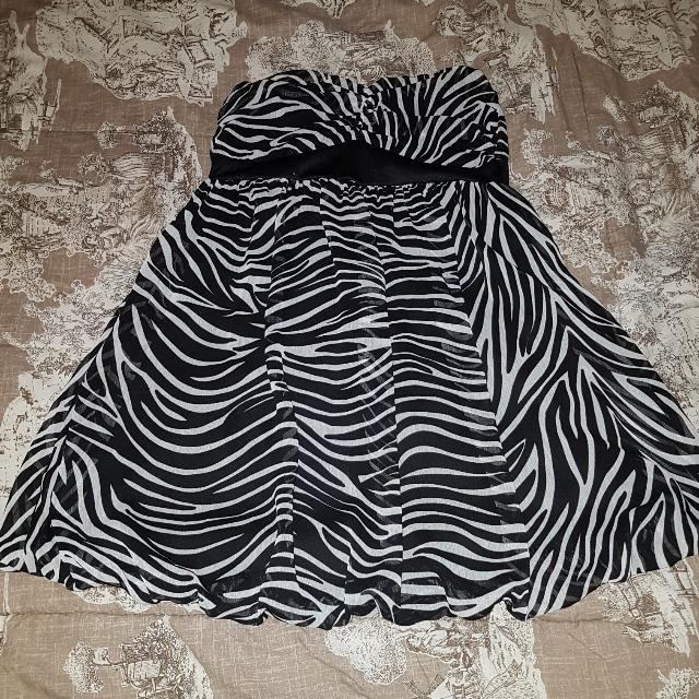 Zebra Strapless Dress