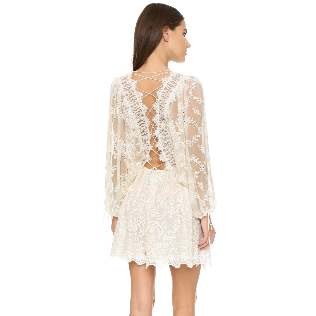 ZIMMERMANN White Silk Dress