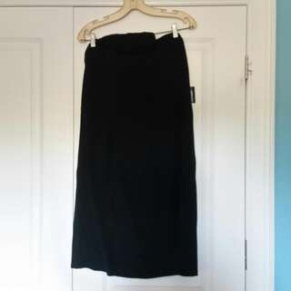 BNWT Black Strapless Dress