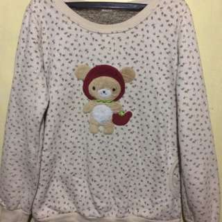 Tan Colored Bear Pull Over