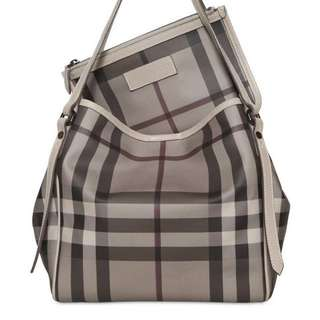 Burberry Women's Gray Canterbury Smoked Check Pvc Bag