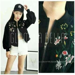 Embroidered Bomber Jacket ♥