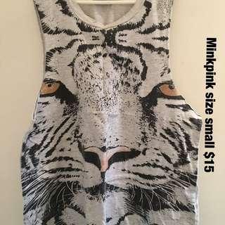 Minkpink Tiger Singlet