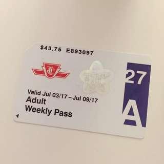 TTC Weekly Pass