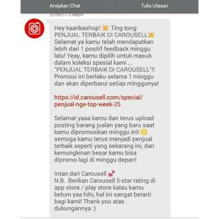 Thanks You Carousell😘