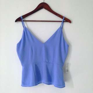 BNWT Backless Blue Tank