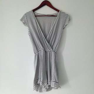 Charlotte Russe Striped Romper