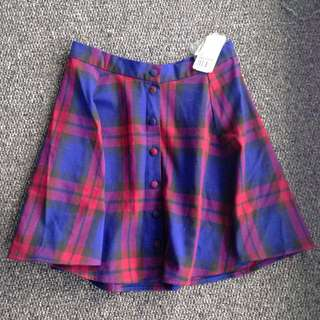 BNWT Plaid Skirt
