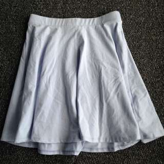Light Blue Circle Skirt