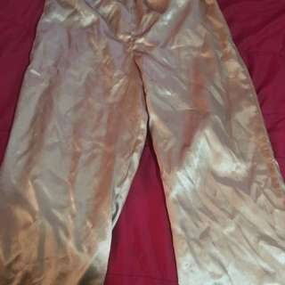 Satin Pajama Bottoms