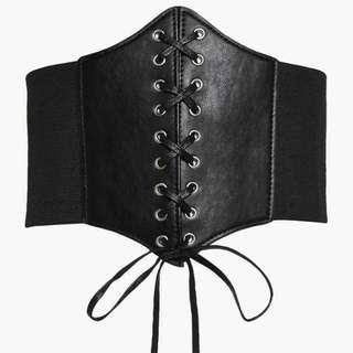Black Corset Waist Belt