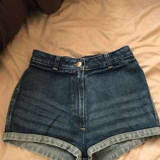 Sass And Bide Size 24 Jean Shorts High Waist Vintage Perfect Condition