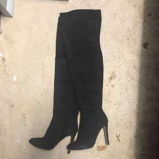 Toni Bianca Thigh High Suede Boots