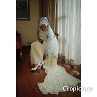 Baju Cream Tunang Nikah Sanding For RENT SEWA