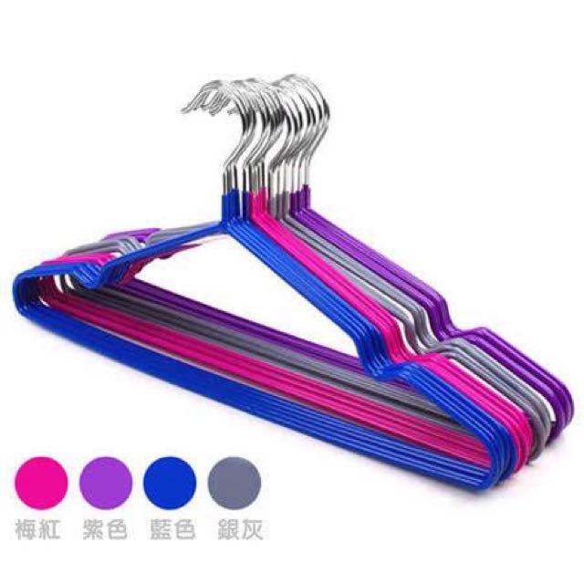不鏽鋼奈米防滑衣架100支入(超值包)