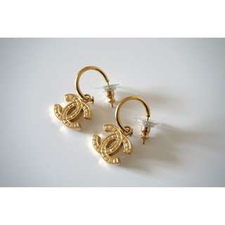 Authentic Vintage Chanel Pierced Earrings