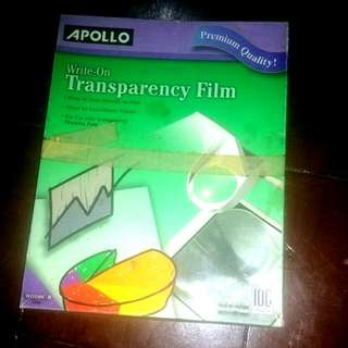 Apollo Write On Transparency Film