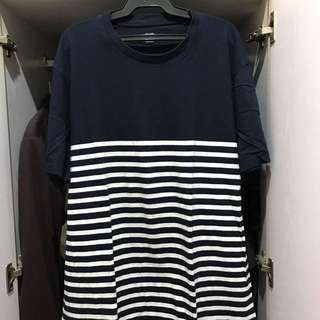 Uniqlo Striped Tee (navy)