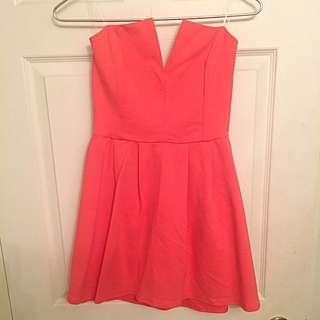 Lulu's Coral Pink Dress