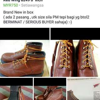 """Red Wing 6"""" inch 8249 boot"""