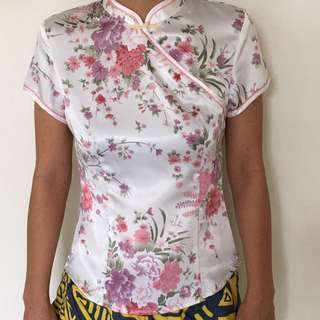 Chinese Blouse Top Size S