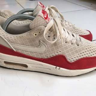 Nike Air Max 1 One White/Red Size US 9.5