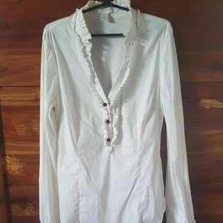 White Forever 21 Long Sleeved Shirt