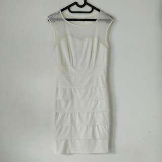 [TURUN HARGA] white bodycon dress