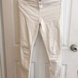 New Look White Denim Pants