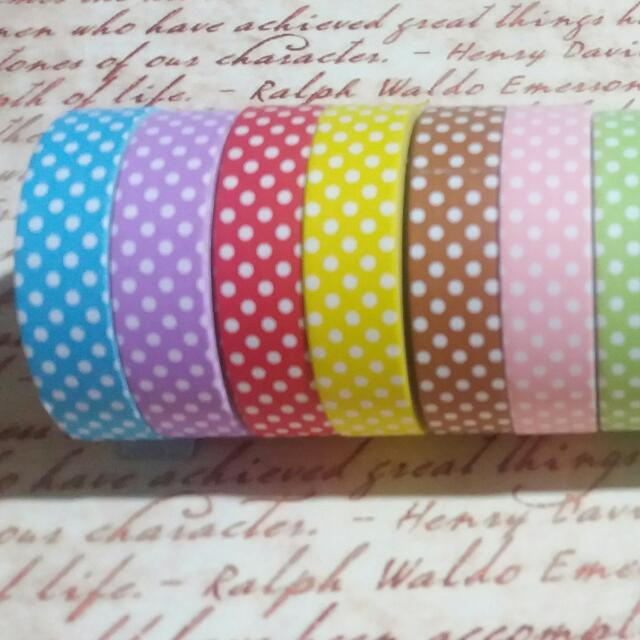 12pcs polka dot paper tapes