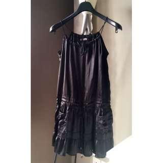 NEW Zara Black Satin Dress