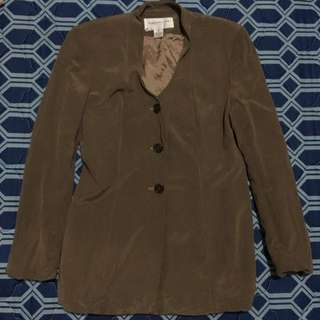 Jones New York 3 Button Tweed Brown Jacket
