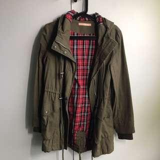 Khaki and checkered jacket