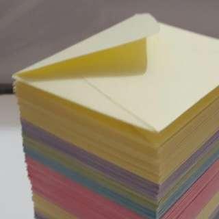 Custom Orders: Handmade small envelopes, Coloured envelopes, Customized envelopes