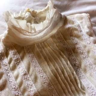 Victorian Cream Lace Top