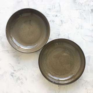 Luzerne Ceramic Low Bowl With Earthen Print