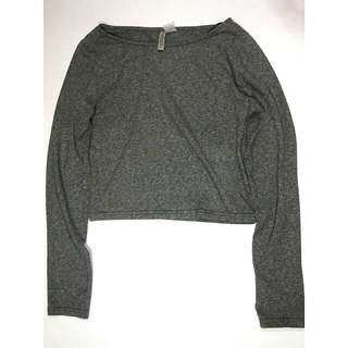 long sleeved crop top by H&M