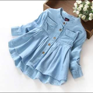 Girls Long Sleeves Cotton Shirt 👚