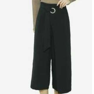 Zalora - Overlay Wide Legged Pants