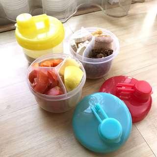 Milk Powder / Fruit Dispenser / Box Makan baby